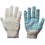 ОСКАР перчатки 5 нити белый пвх волна 10шт os-512