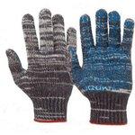 ОСКАР перчатки 5 нити серый пвх протектор 10шт os-533