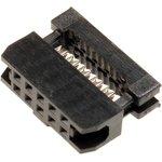 Фото 2/3 IDC2-10F (DS1017-10-N), Розетка 2.0мм на шлейф 10 pin без фиксатора кабеля