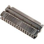 Фото 2/2 IDC-30F (DS1016-30), Розетка 2.54мм на шлейф 30 pin с фиксатором кабеля