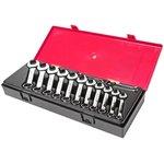 Набор ключей комбинированных 6-19мм укороченных в кейсе 14 предметов JTC-K6143
