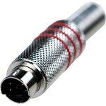 "1-412, Разъем mini DIN 4 pin (S-VHS) ""шт"" мет.на кабель 3 ..."