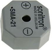 Фото 1/2 SMA-21LV-P15, пьезоизлучатель с генератором.21мм