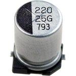 Фото 2/2 ECAP SMD, 220 мкФ, 25В, Конденсатор электролитический алюминиевый SMD