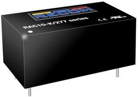 RAC10-15SK/277, AC/DC Power Supply Single-OUT 15V 0.67A 10W 4-Pin DIP Module Tube