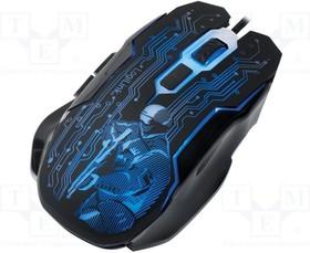 ID0137, Оптическая мышь; черный, разные цвета; USB; проводная