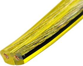 SCT-25-2.50,акуст.кабель 2х2.50мм кв.c басжилой,луж., желт-прозр.,100м