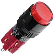 D16LMR1-2ABOR, Переключатель кнопочный без фиксации 250В/5А