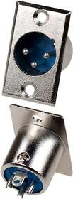 1-530 (XLR-MC- 402), разъем XLR 3 конт. штекер металл на корпус