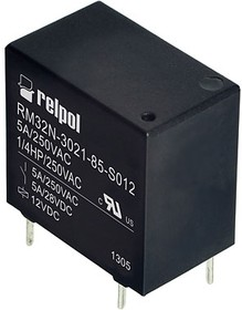 RM32N-3021-85-S012, Реле 12VDC 1 Form A 250VAC/5А