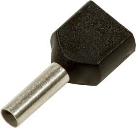 Фото 1/4 966144-6, наконечник на провод 2х1.5мм2 черный
