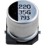 Фото 2/5 ECAP SMD, 220 мкФ, 35В, Конденсатор электролитический алюминиевый SMD