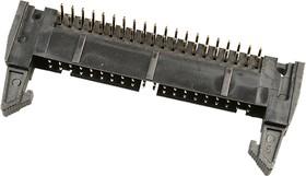 IDCC-40MR(SCM-40R), вилка на плату шаг 2.54мм угловая с защелками