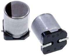 Фото 1/4 EEEFTE221XAP, электролитический конденсатор SMD 220мкФ, 25В 6.3x7.7