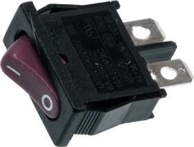 R612BRBT-G, переключатель клавишный ON-OFF 250В 6A красный без маркировки