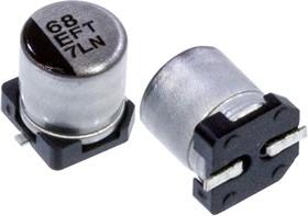 Фото 1/3 EEEFT1E680AR, электролитический конденсатор SMD 68мкФ, 25В 5x5.8
