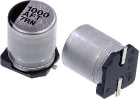 Фото 1/3 EEEFT1A102AP, электролитический конденсатор SMD 1000мкФ, 10В 8x10.2