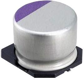 Фото 1/5 20SVP150M, полимерный конденсатор SMD 150мкФ, 20В, радиальн выв