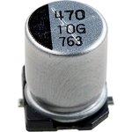 Фото 2/2 ECAP SMD, 470 мкФ, 10В, Конденсатор электролитический алюминиевый SMD