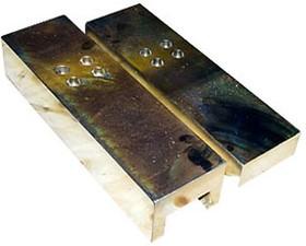 030813 БЕЗ ОТВЕРСТИЙ, KIP-1 10кН, узел встройки (комплект верх + нижн опора), сталь