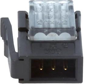 37103-A206-00E, IDC вилка на кабель 3 контакта шаг 2мм серая