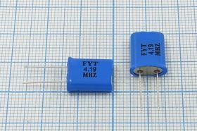 Фото 1/4 Кварц 4.194304МГц в корпусе HC49U с изолированной крышкой,нагрузка 20пФ, маркировка FYT; 4194,304 \HC49U\20\ 30\ 50/0~60C\U[FT]\1Г +SL