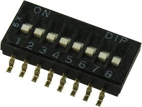 DHNF-08F-T-V, DIP переключатель 8 поз.SMD 1.27мм