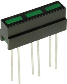 L-133CB/3GD, шкала 3 сегмент. зеленая 21х4.8мм