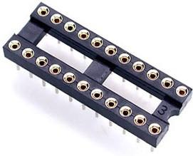 TRS-18, DIP панель 18 контактов цанговая узкая