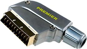 """1-347G( ITC 661 ), разъем SCART штекер металл """"позолоченный"""" на кабель"""