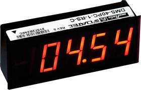 DMS-40PC-1-RS-C, цифр.вольтметр Um +/-2В Uп 5В красн.