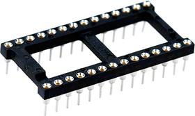 Фото 1/2 9-1437539-2, панелька для микросхем TRL-28 DIP широкая (828-AG11D-ESL)