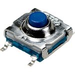 IT-7701S-250G-G, кнопка тактовая 7х7 SMD h=5мм герметичная