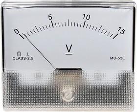 MU-52E 15VDC, измерительная головка 0-15В постоянного тока