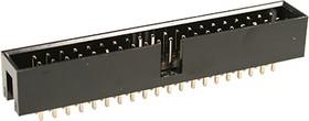 BH-40(IDC-40MS), вилка на плату шаг 2.54мм прямая (аналог DS1013-40SSIB1-B-0)