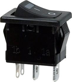 R19A-02IBBBTG-G, переключатель клавишный ON-OFF 250В 6А с зеленой подсветкой(аналог SWR41)