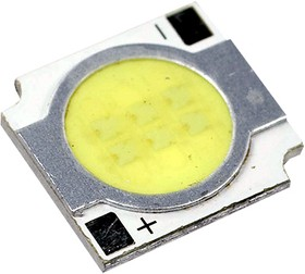 Фото 1/2 ARPL--5W, White,5Вт светодиодная матрица, квадрат 13.5х13.5мм
