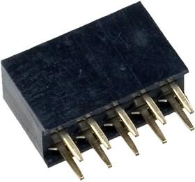 PBD-10, гнездо на плату шаг 2.54мм 2x5 прямое (аналог DS1023-2*5S21)