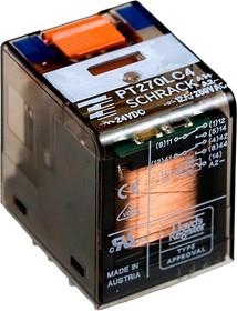 6-1415541-2, PT270LC4, реле 2 Form C 24В 12А/240В со светодиодом