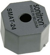 Фото 1/2 SMAT-24-P15, пьезоизлучатель без генератора24 мм