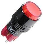 Фото 2/2 D16LMR1-1abKR, Кнопка без фиксации (5A 250VAC), LED подсветка 24VDC