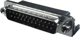 DRB-25MA, вилка D-SUB 25 pin на плату угловая 7.2мм