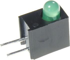 Фото 1/3 L-934EW/1GD, светодиод в корпусе зеленый 3мм 20мКд