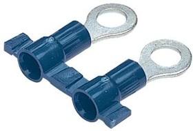 PV14-14RB-3K, Ring Tongue Terminal 14-16AWG Copper Blue 26.67mm Tin T/R