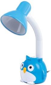 """Фото 1/6 Светильник настольный OU-603, на подставке, цоколь Е27, """"Сова"""", синий, 236674"""