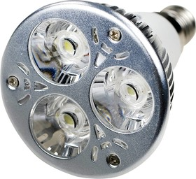 LED LAMP E14 3X1W 220В NW, Лампа светодиодная E14 3x1W 220В цвет чистый белый
