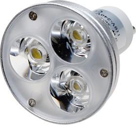 ECOSPOT GU10 A5-3x1W Warm, Св.диод.лампа 3W,цоколь GU10,(мощ.35W)