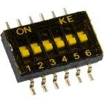 DSHP06-TSGER, DIP переключатель 6поз. SMD 1.27мм