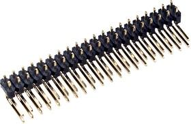 PLD-40R, тип1 вилка штыревая 2.54мм 2x20 угл. 9.5x9.5мм