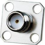 SMA-7814, SMA гнездо приборное фланец 4 отверстия под крепеж GSA-1110